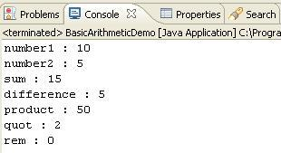 Java program which performs basic arithmetic operations addition ...