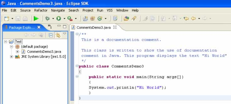 How to Add Comments in Java Code Javadoc Comment