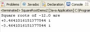 Java program to find out square root of a given number without using