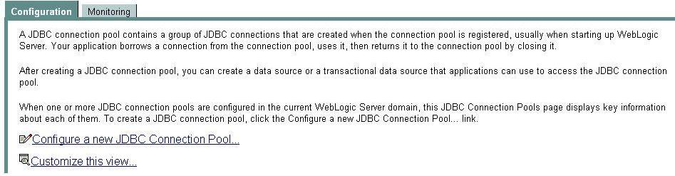 Configure a new JDBC Connection Pool